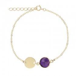 Bracelet plaqué or avec sa...