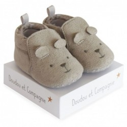 CHAUSSONS BEBE Gris