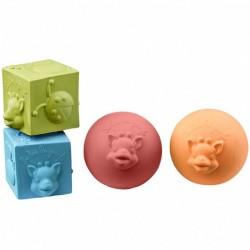 Set de 2 balles et 2 cubes...