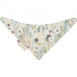 "Bavoir bandana ""Flower..."