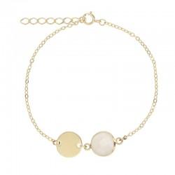 Bracelet Or avec Médaille...