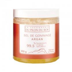 Sel de Gommage à l'Huile d'Argan BIO 350ml La Savonnerie du Pilon du Roy